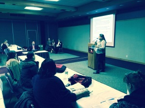 Adrienne Thunder presenting at  NIEA on Tribal Education Departments and Research