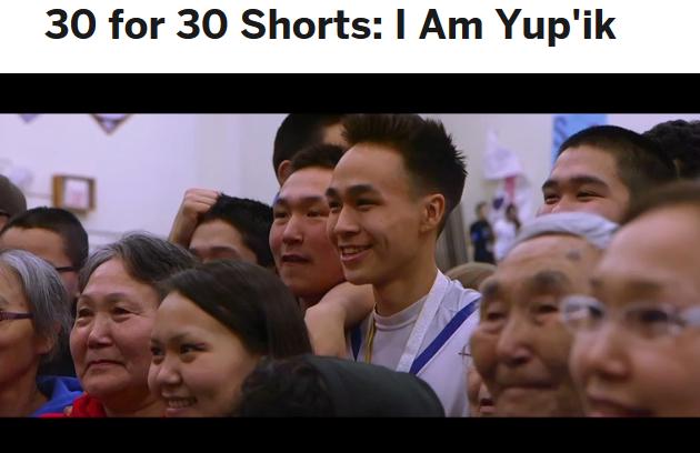 Screenshot from ESPN video I Am Yup'ik