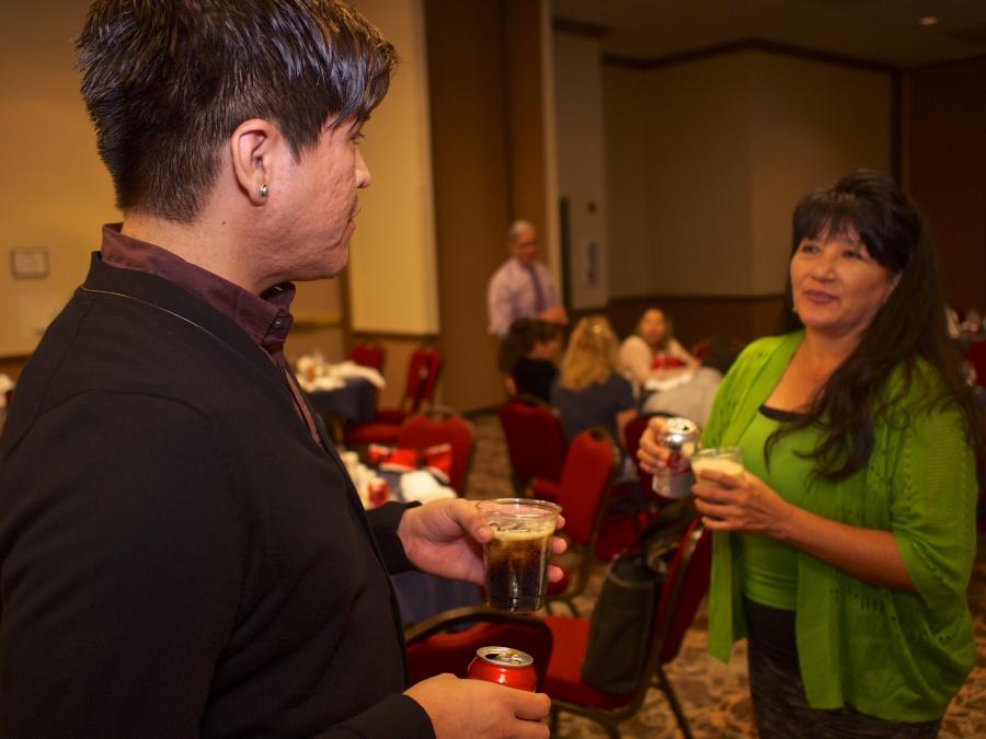 Scott Jacket (NARF) with Florinda Jackson (TEDNA Secretary, Navajo Nation)